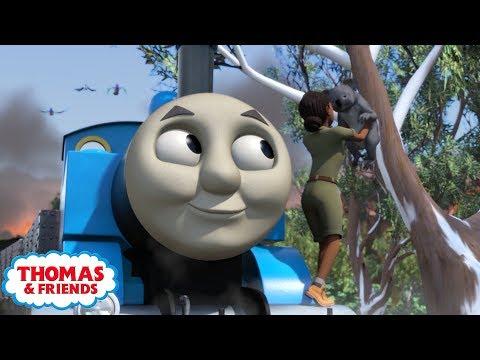 Thomas & Friends | Banjo and The Bushfire | Kids Cartoon
