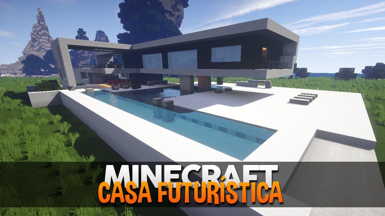Minecraft mapas casas futur sticas modernas youtube for Casa moderna en xkekos