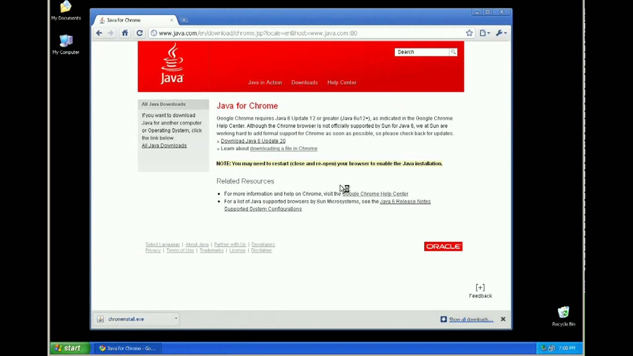 How to install Sun Java in Windows
