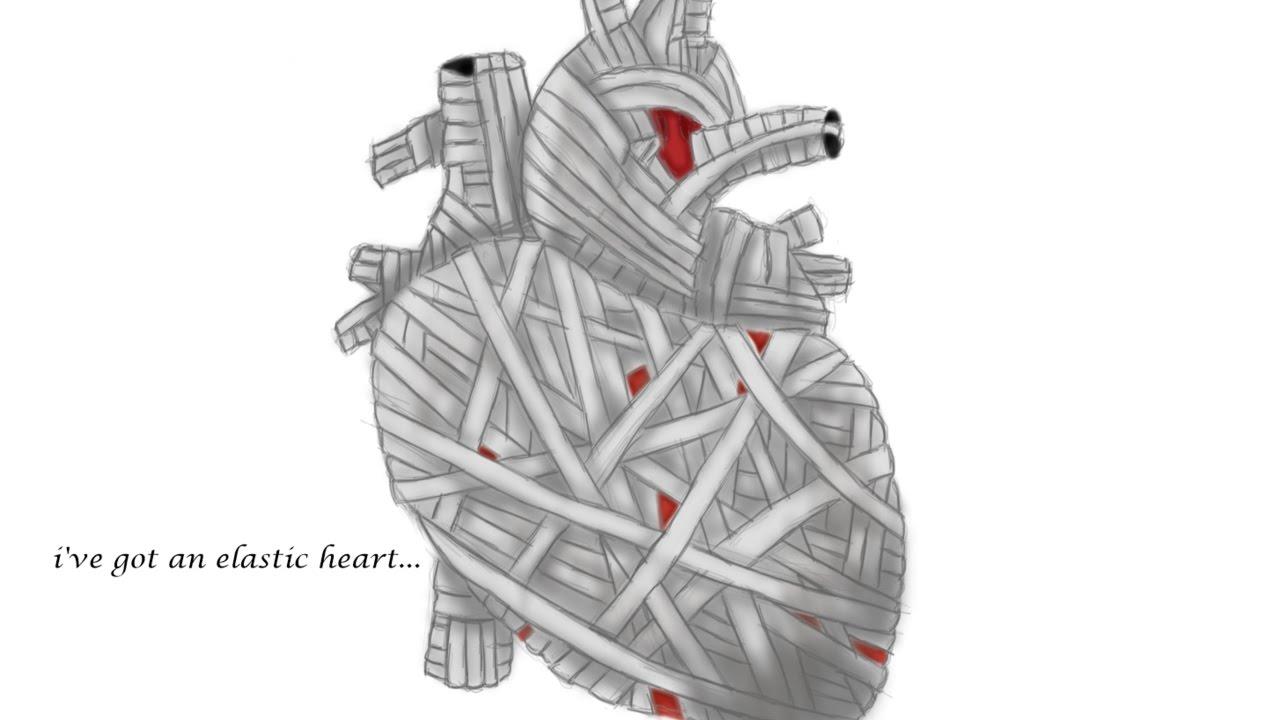 elastic heart - digital drawing - YouTube