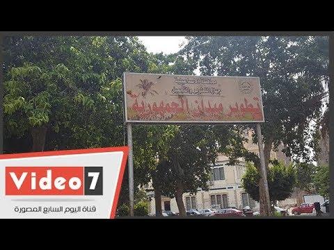 القمامة والباعة الجائلون يحتلون ميدان الجمهورية بالإسماعيلية  - 15:54-2018 / 9 / 20
