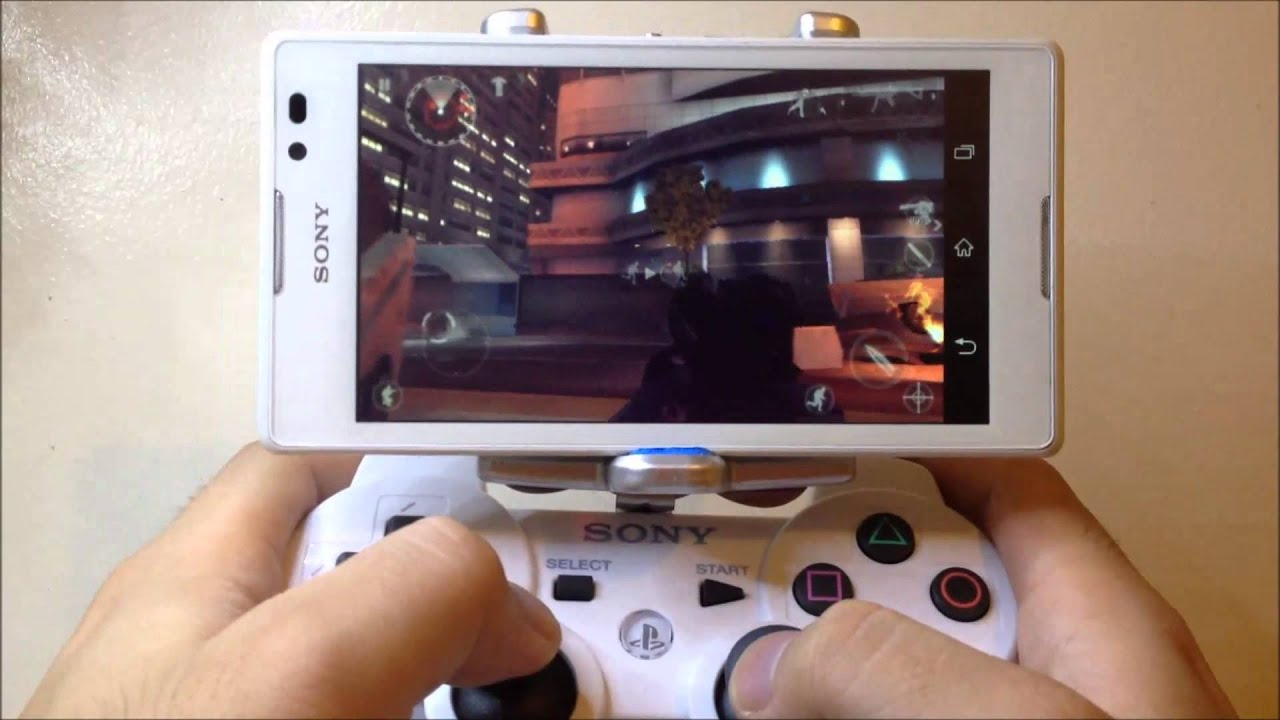 PS3 Android DIY Gamepad Holder - YouTube