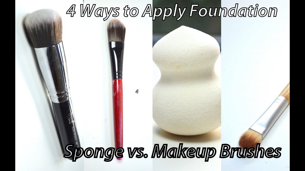 How To Apply Foundation  4 Ways & Sponge Vs Makeup Brushes