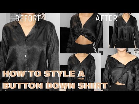 HOW TO STYLE : A BUTTON DOWN SHIRT || ARIANA.AVA