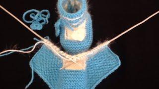 Kolay Maviş Bebek Patiği Yapımı