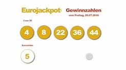 Eurojackpot Gewinnzahlen vom Freitag, den 29.07.2016