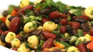 Three Bean Salad Healthy Three Bean Salad Recipe
