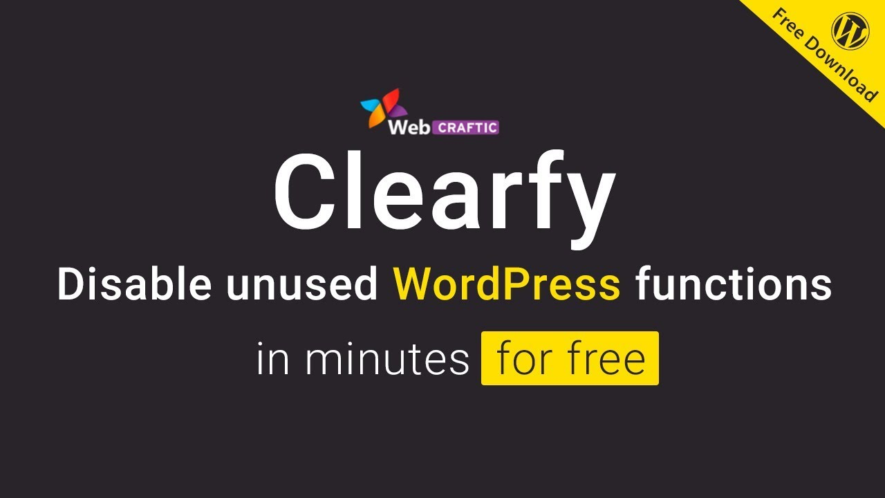 Clearfy – WordPress optimization plugin and disable ultimate