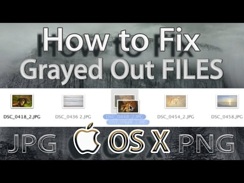 How to Fix Greyed Out Files on MacOS - YouTube