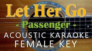 Let Her Go Karaoke Acoustic (Passenger, Female Key)