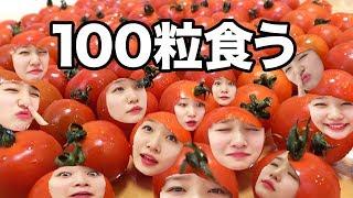 【大食い】トマト100粒チャレンジやって100企画の王になる!【100企画】