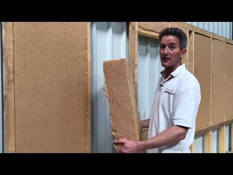 Flexible wood fibre insulation and how to install it.