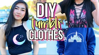 DIY Tumblr Clothes WITHOUT Transfer Paper! Part 2 | JENerationDIY