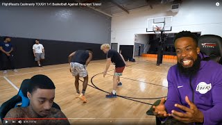 FLIGHT STOP HATING ON ME! FlightReacts Cashnasty TOUGH 1v1 Basketball Against Hoopiest TJass!