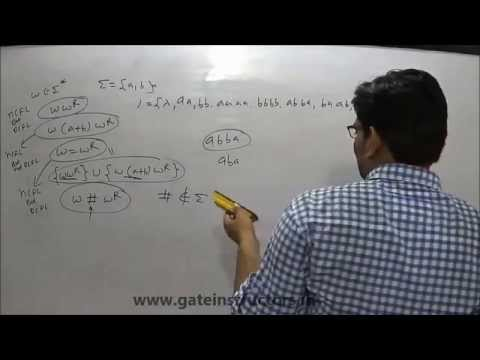114 | Theory of Computation | Context Free Language CFL Type: wcwR w ∈ {a, b}} wwR w = wR Examples