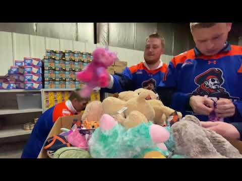 Marauders Hockey Team Helps Bring Joy to Children Across Bismarck and Surrounding Area