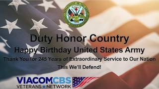 Duty Honor Country - Happy Birthday United States Army by Richard M. Jones