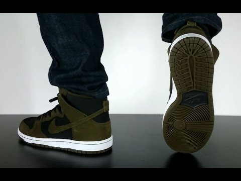 NIKE SB DUNK HIGH PRO dark loden dark loden black white