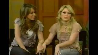 HILARY & HAYLIE DUFF - TOUCHING INTERVIEW YouTube Videos