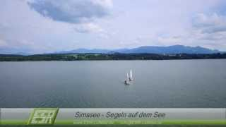 Simssee - Segeln auf dem See - ESR Luftbild