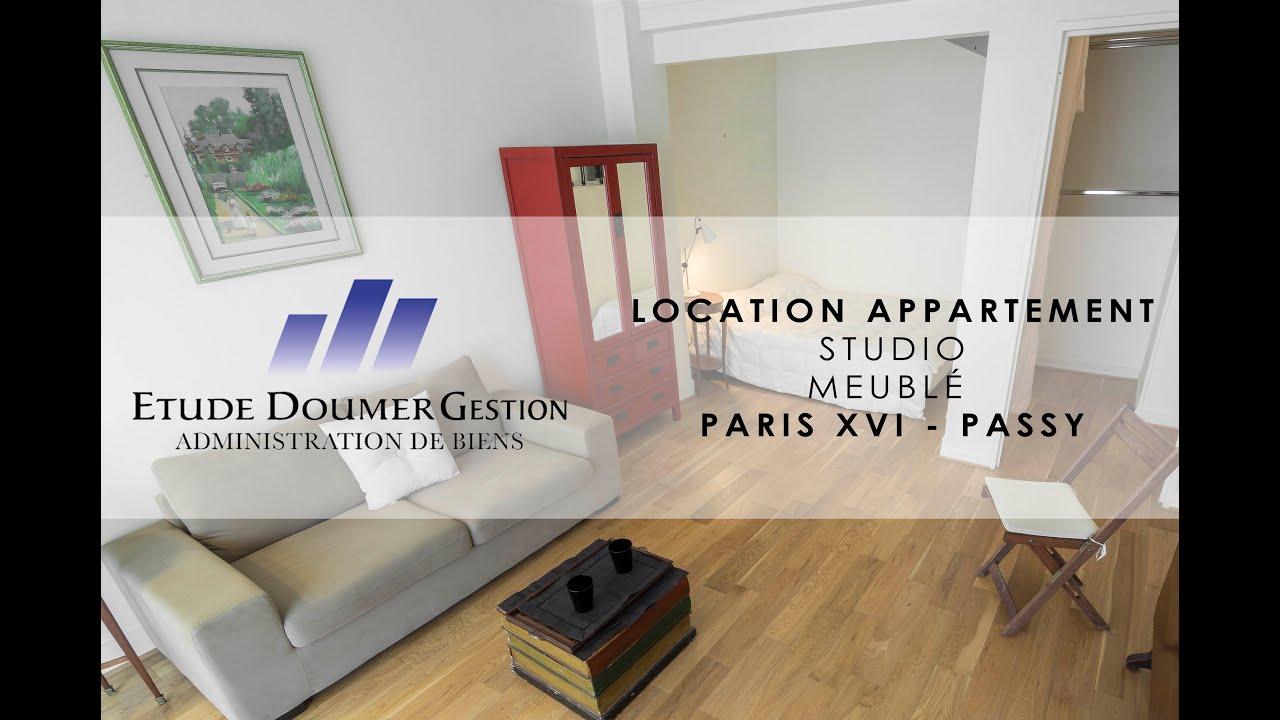 Location Studio Meuble Paris 16 Youtube