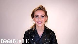 Kiernan Shipka Talks Mad Men, Eyeliner, and Her Famous Brows in Her Teen Vogue Video Debut