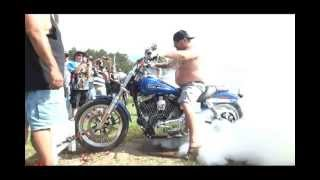 Memorial day biker party burn out contest