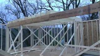 Design-build Narrow Lot Vlog #15 - First Floor Framing Complete