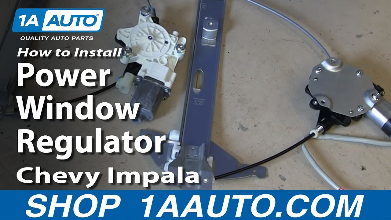 hight resolution of how to install replace rear power window regulator 2006 12 chevy impala
