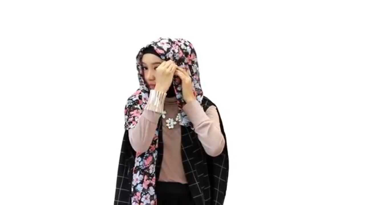 Tutorial Hijab Floral Simple YouTube