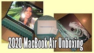 2020 MacBook Air Unboxing || A'sha J. #schoolsupplies #macbookair