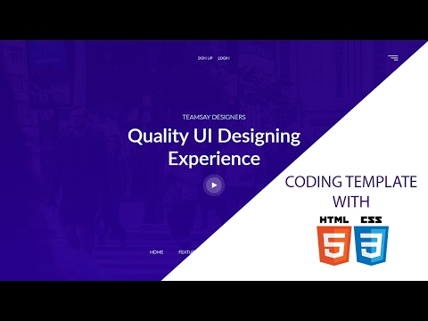 Web Design - Template Team Designing Coding With HTML5&CSS3