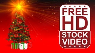 FREE HD video backgrounds – celebrations – christmas tree with presents seamless loop animation