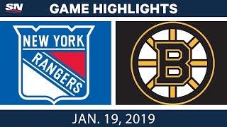 NHL Highlights | Rangers vs. Bruins - Jan. 19, 2019