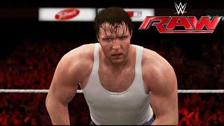 WWE-2K16 -Dean Ambrose vs AJ Style- Full Match |RAW 2016- WWE-2K16 Simulation(PS4)