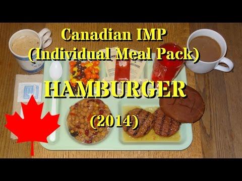 MRE Review: Canadian IMP (Individual Meal Pack) Menu No.7 Hamburger