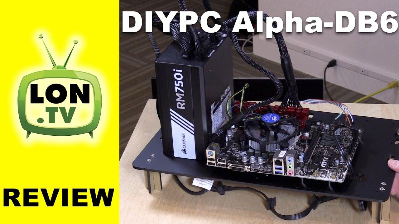 Diypc Alpha Db6 Black Acrylic Atx Bench Case Test Bench