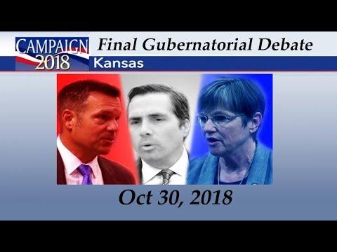 Kansas Gubernatorial Debate Kris Kobach vs Laura Kelly vs Greg Orman Final Debate Oct 30, 2018