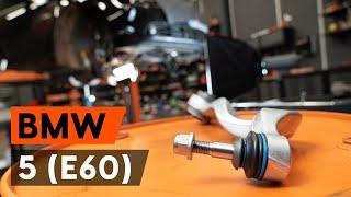 Hoe Draagarm set vervangen BMW 5 (E60) - video gratis online