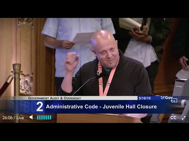 Juvenile Hall Closure Public Comments Ron 5-16-19