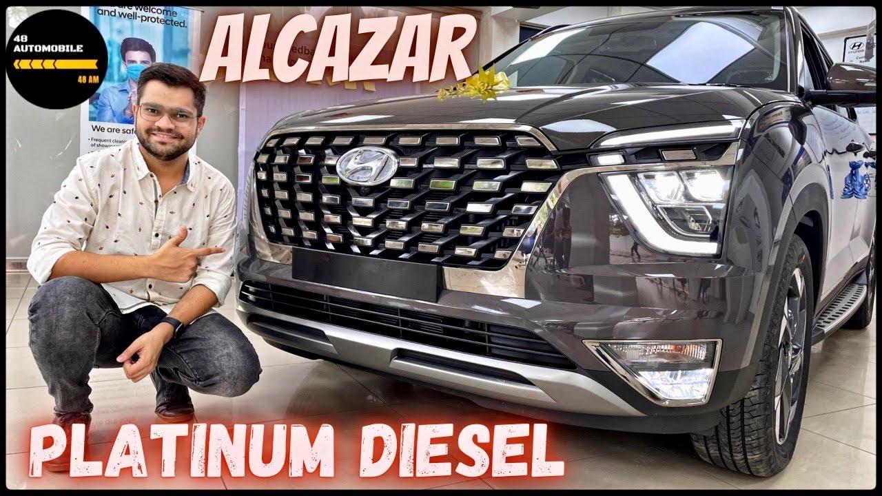 Hyundai Alcazar Diesel Automatic detailed Walkaround Video in Hindi|Alcazar 6seater platinum variant