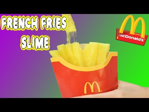 HOW TO MAKE FRENCH FRIES SLIME ! DIY McDonalds Food
