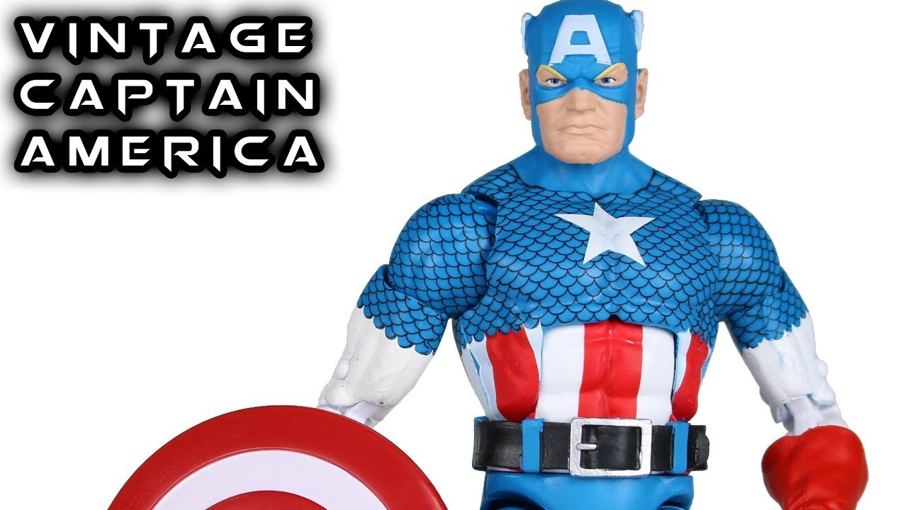 marvel legends captain america vintage series action figure toy review