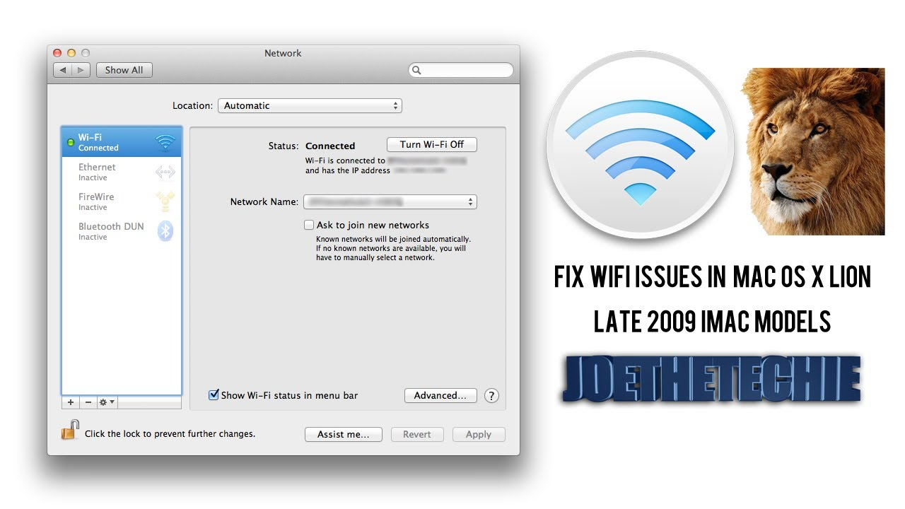 Having Problems With WiFi in Lion? Here's How You Can Fix Them