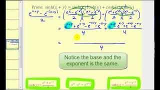 Prove a Property of Hyperbolic Functions: sinh(x+y)=sinh(x)cosh(y)+cosh(x)sinh(y)