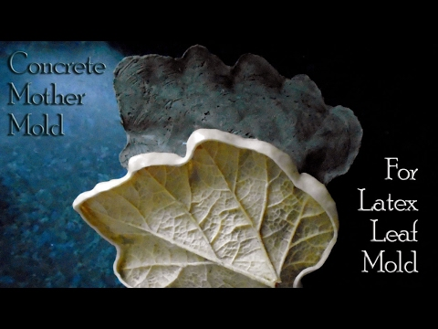 Concrete Leaf Casting | Concrete Mother Mold For Latex Leaf Mold