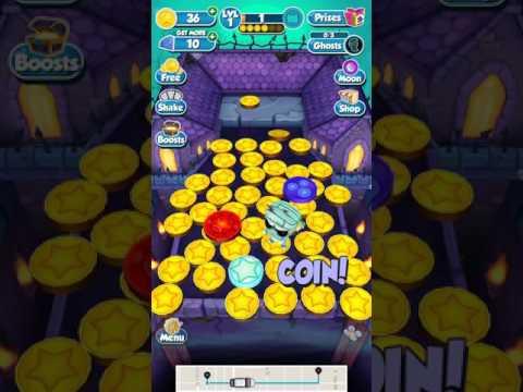 Halloween coin dozer giant coin fail