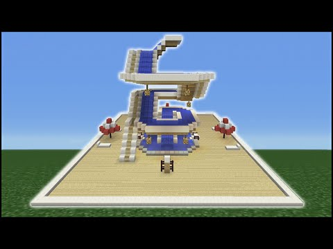 Minecraft Tutorial: How To Make A Spiral Water Slide (Mini Water Park)