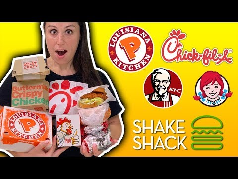 ONLY EATING Chicken Sandwiches for 24 HOURS // Popeyes VS Chick-Fil-A VS Everything