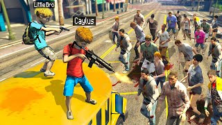 MASSIVE ZOMBIE HOARD Chases KIDS In GTA 5 RP.. (Mods)